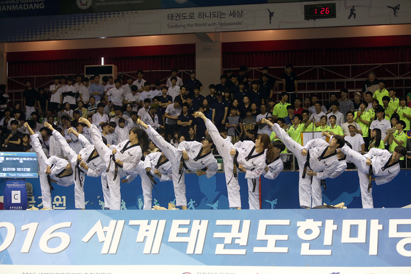 The 2016 World Taekwondo Hanmadang of All-round Breaking Senior I II on August 6